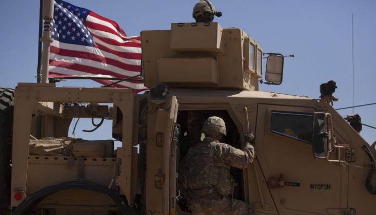 ABD Askerleri Petrol Bölgesinde DSG İle Devriye Yaptı