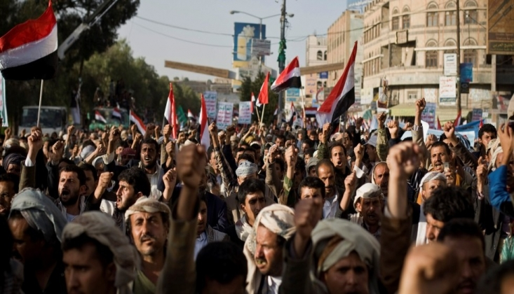 Yemen Halkı Kasım Süleymani İçin Sokaklara Döküldü