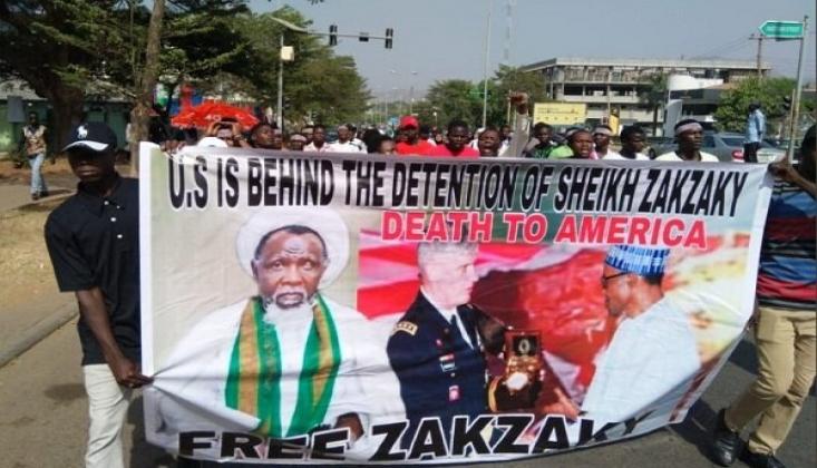 Nijerya'da Şeyh Zakzaki Protestosu
