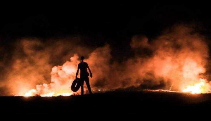 İşgal Rejimi 'Gece Karmaşası' Eylemlerindeki Filistinlilere Saldırdı