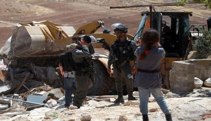 Siyonist Rejim Filistinlileri Evsiz Bırakmaya Devam Ediyor