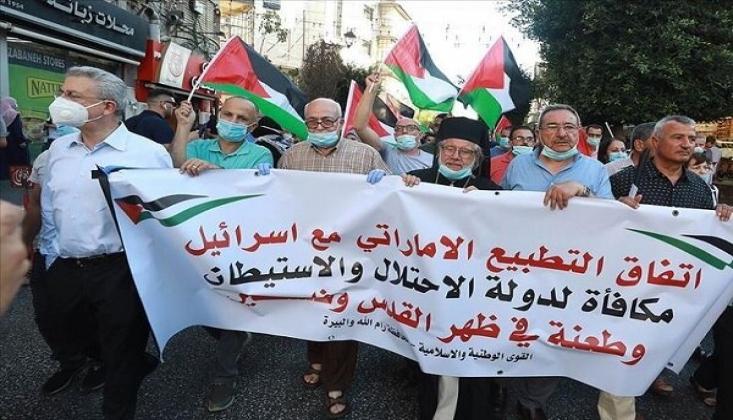 İsrail-BAE Normalleşme Anlaşması Gazze'de Protesto Edildi