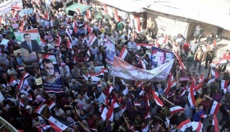 Halep'te Türkiye'nin Operasyonlarına İlişkin Protestolar