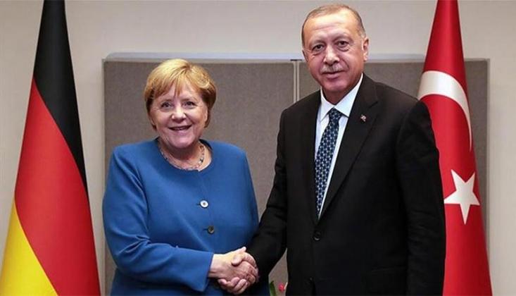 Erdoğan ve Merkel'den 'Libya' Görüşmesi
