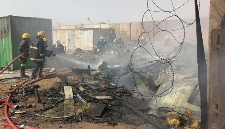 Irak'ta Askeri Havalimanında Yangın