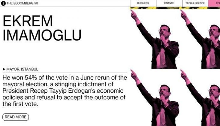 İBB Başkanı Ekrem İmamoğlu 2019'un En Etkili İsimleri Arasına Girdi