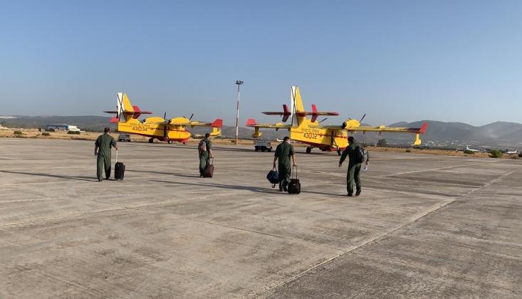 İspanya'dan Yangın Söndürme Uçakları Geldi
